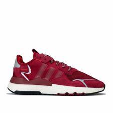 Para Hombre Adidas Originals Nite Jogger entrenadores en Rojo