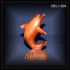 Delphin, Delfin 10cm, Holz Schnitzerei BALI (DEL1-004)