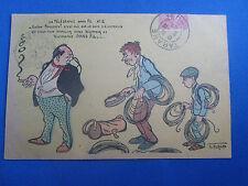 cpa  illustrateur fantaisie norwinsl electricien et le bourgeois humour