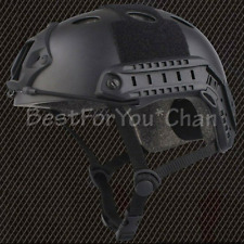 Tactical Airsoft Paint Ball Bicycle Light Weight Fast PJ Helmet Black