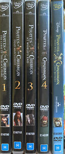DVD Series: Pirates of the Caribbean - 1 to 4 plus Dead Men Tell No Tales (5cds)