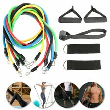 11pcs/ Set Pull Rope Latex Fitness Exercises Resistance Bands Elastic Exercises