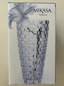 Mikasa Palazzo Vase Crystal 9 in 5118771 NIB - Sealed - Ships FreeFAST PRIORITY