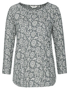 EX SEASALT Redon Top, Ceramic Flower Flint organic cotton Sizes 10 24 RRP ws £35