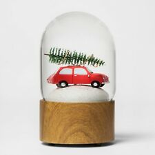 Water Globe Car with Tree - with Light- Threshold Snowglobes Cloche Xmas Holiday