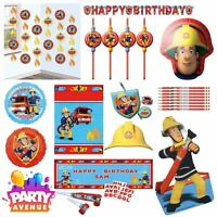 Fireman Sam Party Tableware Decorations Balloons Favours
