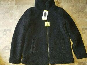 Womens 32 Degrees Heat Black Coat Sherpa Small S