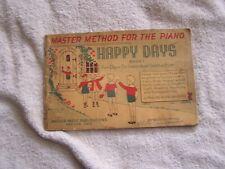 Piano Instruction Book 1 Happy Days Heidelberger 1943