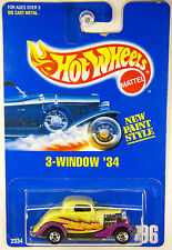 Hot Wheels #196 3-Window 34 Ford, Lime Yellow - RARE