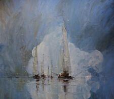 "Oil painting ""Boats"", 70 cm x 60 cm, Justyna Kopania"