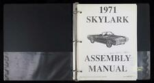 1971 GM Buick SKYLARK Assembly Manual - Reprinted Under License of GM - CLEAN