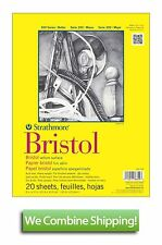 "Strathmore 300 Bristol Vellum 20 Sheet Pad 9""x12"" 100lbs 342-109"