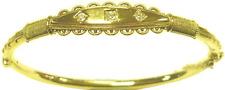 Raro 15ct Oro Victoriana Diamante Brazalete De-Hallmark 1889