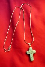 Native American Indian - Wonderful Handcrafted Turquoise Cross Necklace