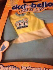 "Cicciobello Love N Care doll Outfit Boy Orange New 3+ Giochi for 17"" doll kids"