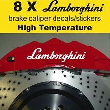 8 X Lamborghini Brake Caliper Decal Sticker Vinyl Emblem Graphics Car