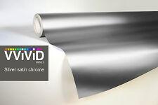 VVIVID8 Silver chrome satin matte car wrap vinyl 100ft x5ft conform stretch 3MIL