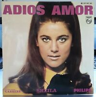 EP 45 Tours - Sheila - Adios Amor - Rare Label Bleu - 1967 philips 437.347