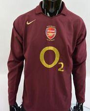 GUNNERS SHIRT HIGHBURY 2005-06 NIKE Arsenal FC Long Sleeve SIZE M (adults)