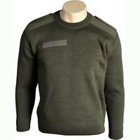 Pull commando kaki Armée Francaise taille 88 (S) en laine pull-over pullover