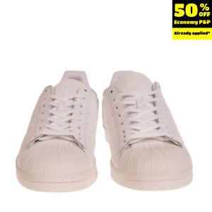 RRP €150 ADIDAS ORIGINALS SUPERSTAR Leather Sneakers EU 54 2/3 UK 18 US 19 Logo