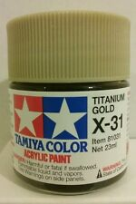 Tamiya acrylic paint. X-31 Titanium Gold  23ml.