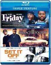 Friday/Menace II Society/Set It Off [3 D (2012, REGION A Blu-ray New) BLU-RAY/WS