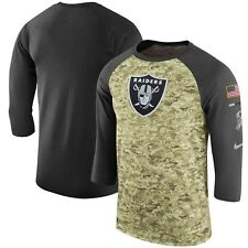 0af98cb8e Oakland Raiders Mens Nike Salute to Service 3 4 Sleeve DRI-FIT T-