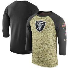 Oakland Raiders Mens Nike Salute to Service 3 4 Sleeve DRI-FIT T- cf4df7961