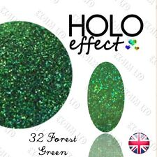 HOLO MERMAID EFFECT NAIL POWDER  Glitter Dust Fine Holographic Forest Green 32