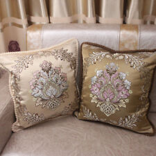 CURCYA European Style Cushion Covers Decorative Sofa Square Pillow Cover Gifts