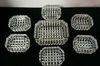 Master Salt and 6 Salt Cellars Dips 7 Piece Set Crystal