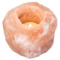 NEW NATURAL HIMALAYAN SINGLE SALT CANDLE HOLDER TEALIGHT CRYSTAL ROCK SALT