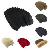 Unisex Women Men Knit Baggy Slouchy Beanie Thick Hat Winter Oversized Ski Cap