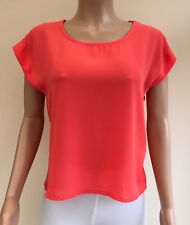 NEW Select Coral Open Back Top Size 10