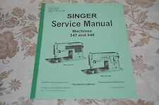 Professional Full Edition Service Manual for Singer 347 and 348 Sewing Machines.