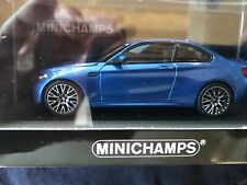 BMW M2 Competition blue 1/43 BMW CCA 50th Anniv. 300 pcs. Minichamps 413026203