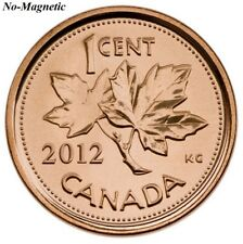 CANADA 2012 New 1 cent Copper Plated Zinc NON-MAGNETIC (BU From roll)