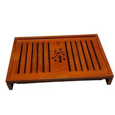"Bamboo GongFu Tea Serving Tray L17"" x W11"" x H2.5"""