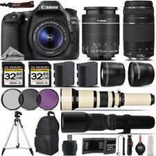Canon EOS 90D Digital SLR Wi-Fi Camera + 18-55mm + 75-300mm III Lens - 64GB Kit