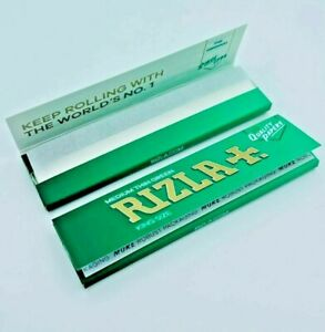 Rizla GREEN King Size Slim Ultra Thin Cigarette Smoking Rolling Paper NEW PACK