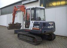Kubota KX 151 Excavator / Digger  - Parts Manual.