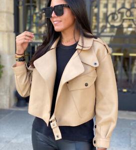 2021 Women's Bomber Jacket Genuine Sheepskin Leather Coat Lady New Design 37547A