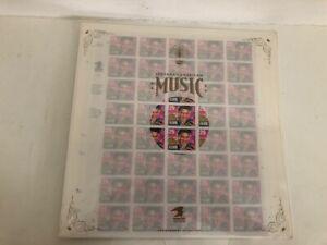 1992 Elvis Presley Scott #2721 Record Album Sleeve Cover 40 Stamps Sheet