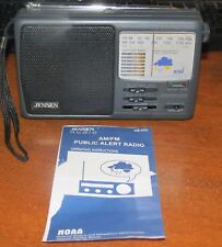Jensen MR-600 AM/FM WB Radio Receiver Storm Alert NOAA Low Battery Indicator MIN