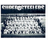 Pitssburgh Steelers Super Bowl set 8X10 Team Photos 1975 1976 1979 1980 FOOTBALL