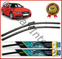 "AUDI A4 (8K/B8 AVANT) 2007+  Front Pair Flat Aero Wiper Blades 24""20"" Set (D1)"