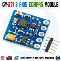 GY-271 HMC5883L Sensor Module 3V-5V Triple Axis Compass Magnetometer For Arduino