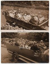 Two Real Photo CHARABANC Postcards  Ilfracombe 1920's Devon - One Vicker's Bros