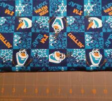 Quilt Sew Fabric Flannel 1/2 Yard Olaf navy